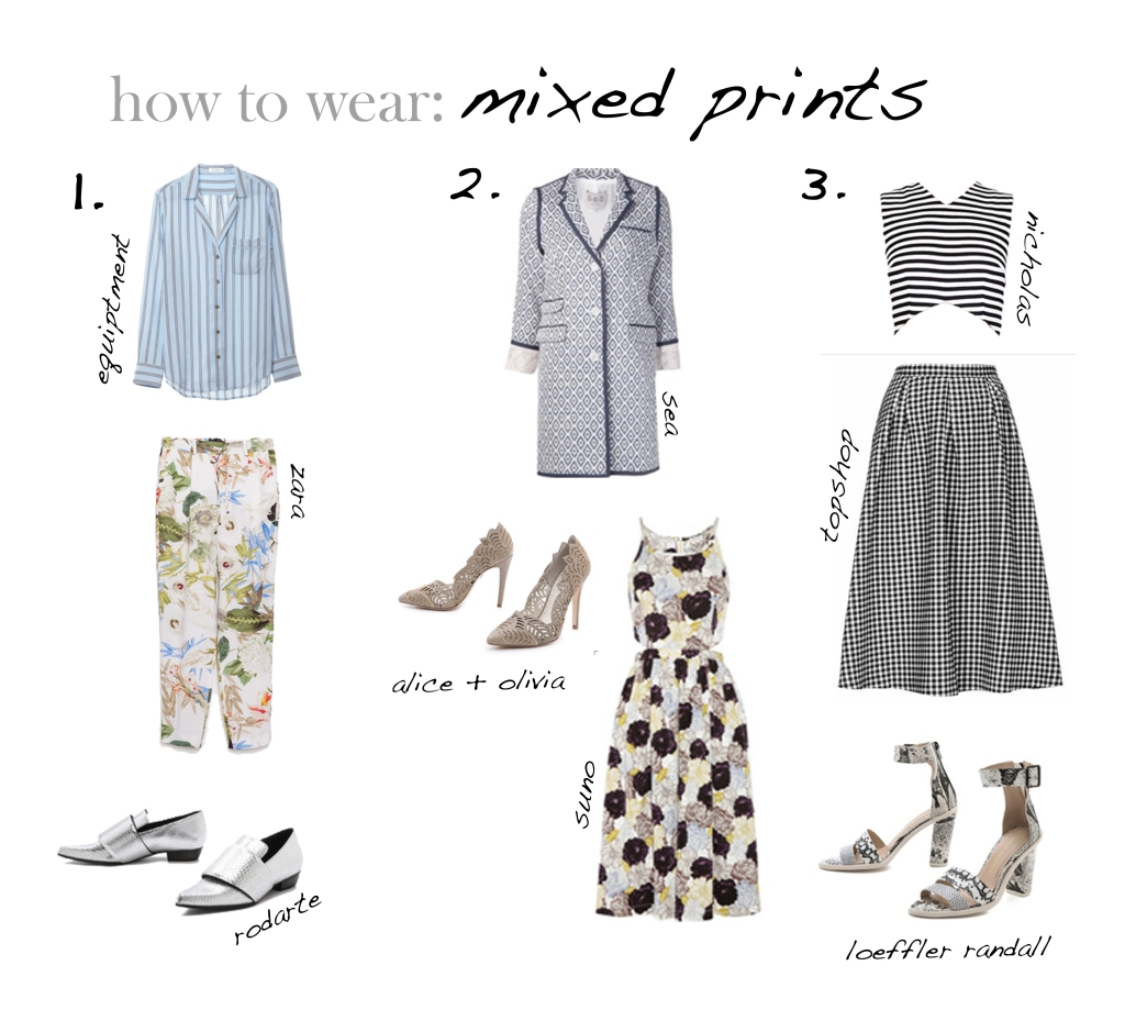 how to wear mixed prints www.laircake.com